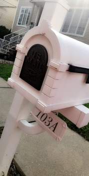 How cute is our mailbox? Send me some love